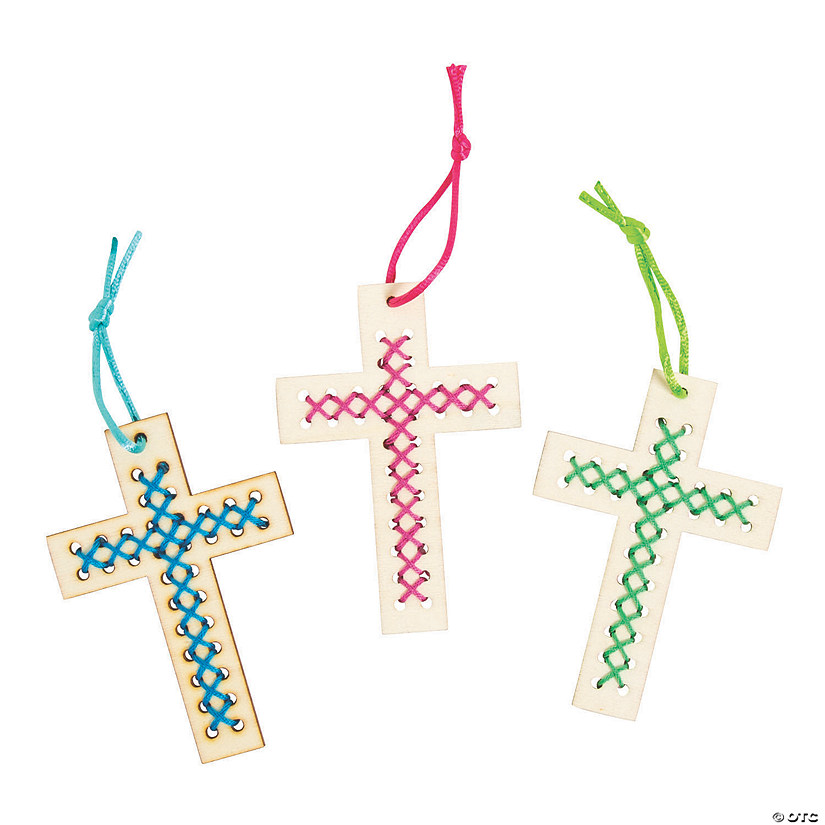 Religious Cross Stitch Ornament Craft Kit Audio Thumbnail
