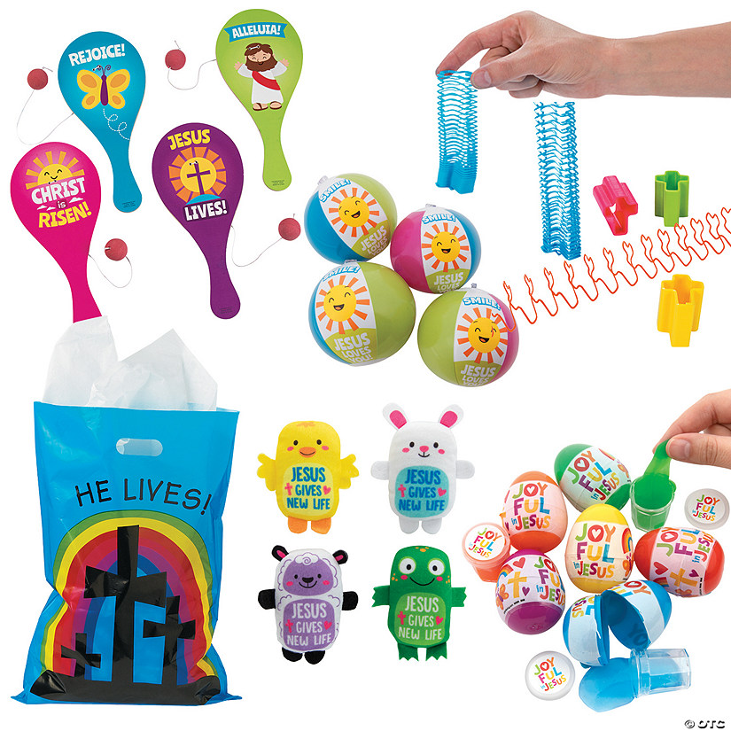 Religious Easter Bunny Bag Kit for 48 Image Thumbnail