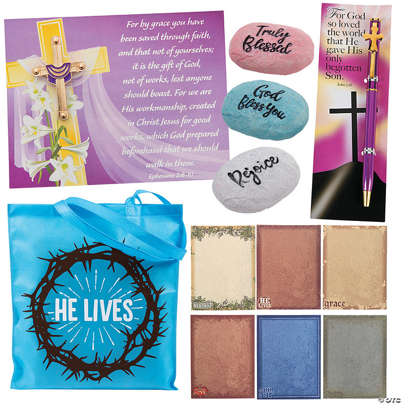 Religious Easter Church Handout Kit for 12 Image Thumbnail