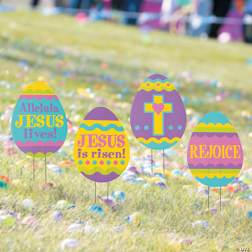 Religious Easter Egg Hunt Yard Signs Image Thumbnail