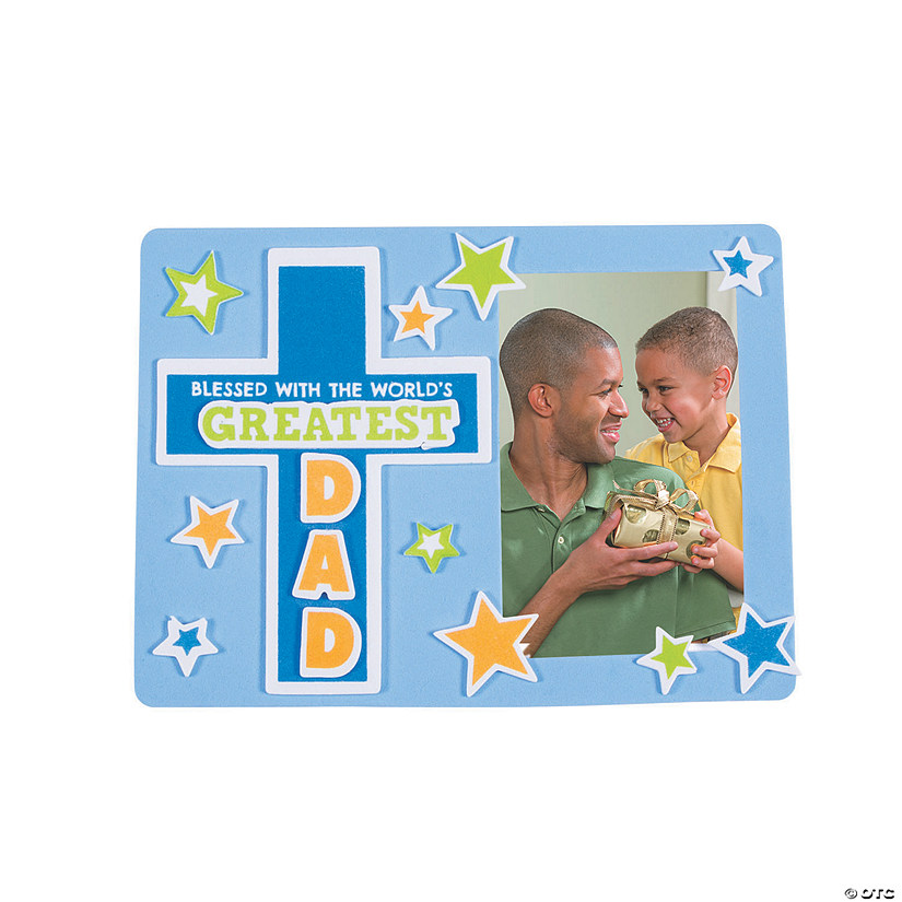 Religious Father's Day Picture Frame Magnet Craft Kit Audio Thumbnail