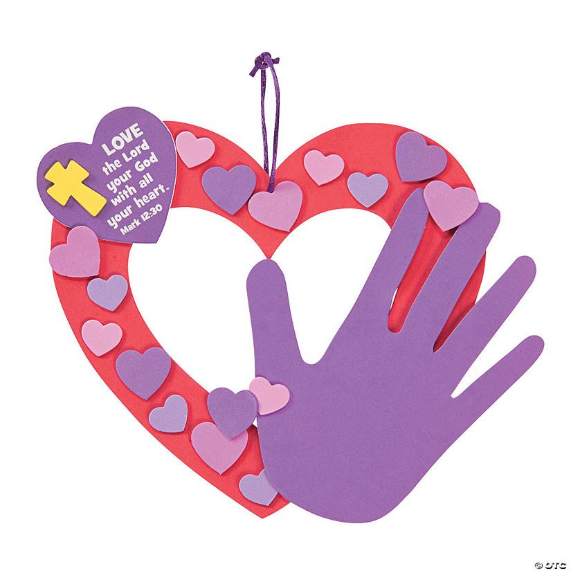 Religious Handprint Valentine Wreath Craft Kit - Discontinued