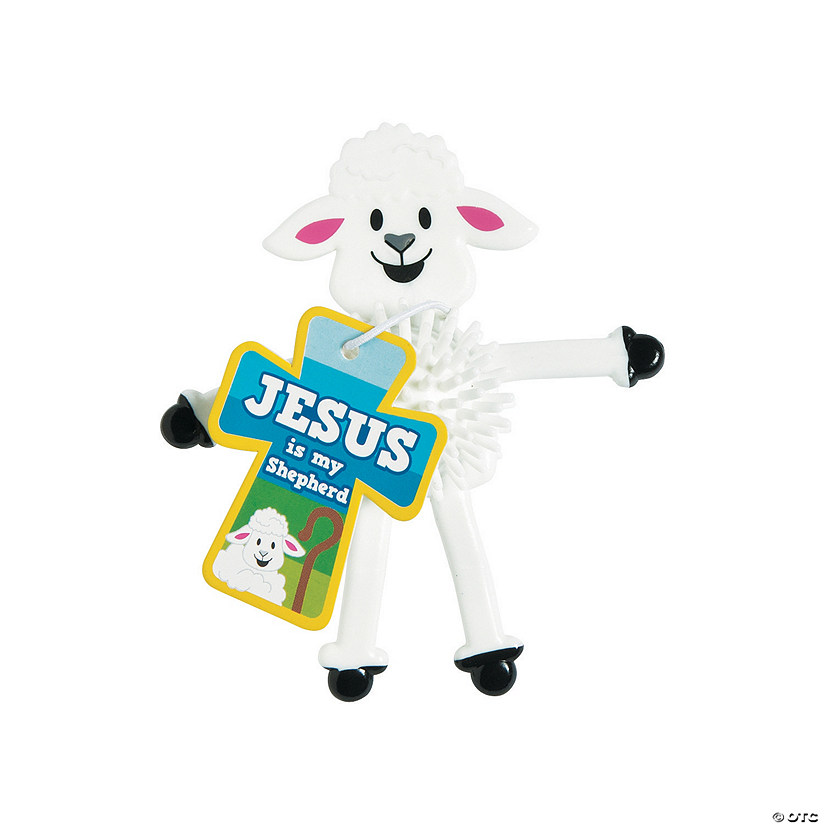 Religious Lamb Porcupine Bendables with Card Audio Thumbnail
