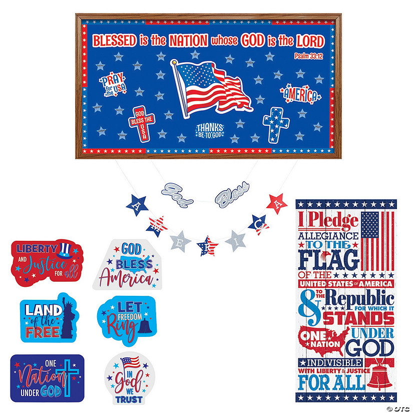 Religious Patriotic Classroom Decorating Kit Image Thumbnail