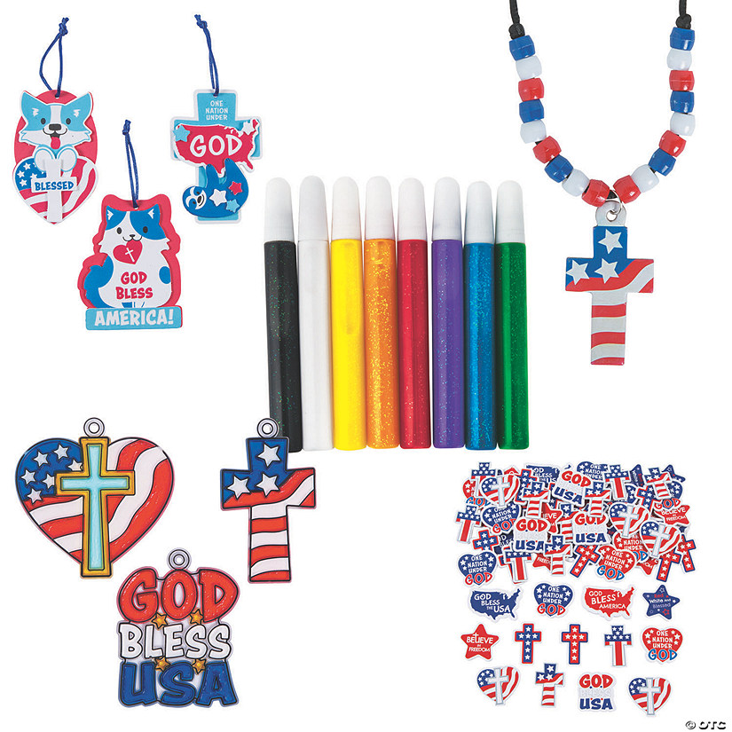 Religious Patriotic Craft Boredom Buster Kit Image Thumbnail