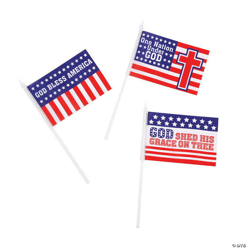 "Religious Patriotic Flags - 6"" x 4"" Audio Thumbnail"