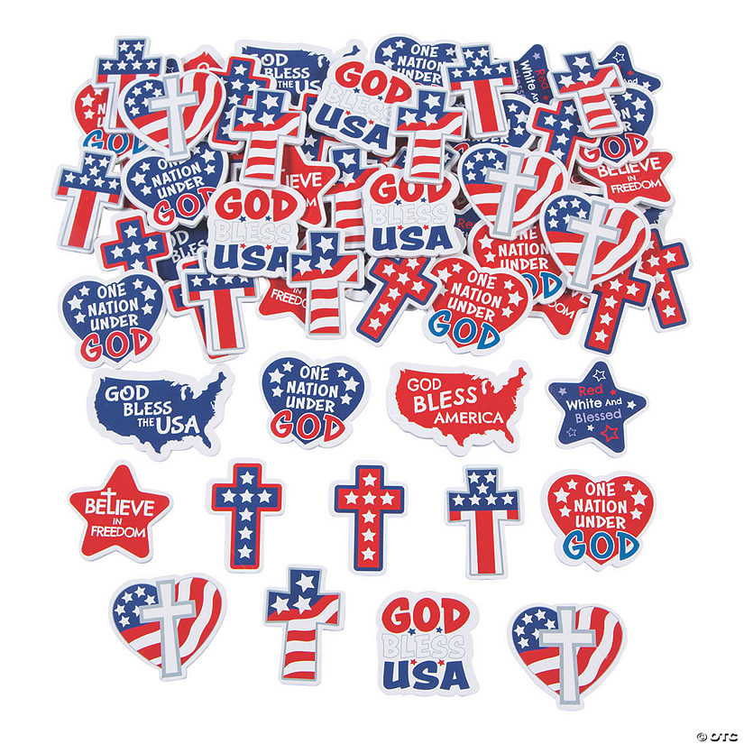 Religious Patriotic Self-Adhesive Shapes Image Thumbnail