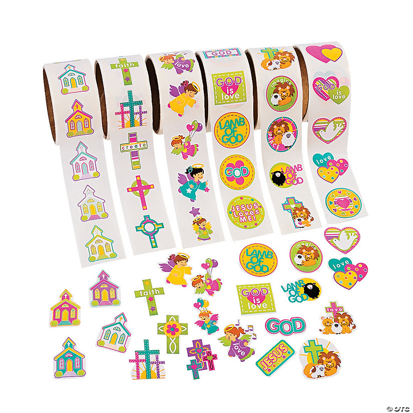 Religious Rolls of Stickers Assortment Audio Thumbnail