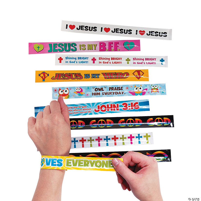 Religious Slap Bracelet Assortment Audio Thumbnail