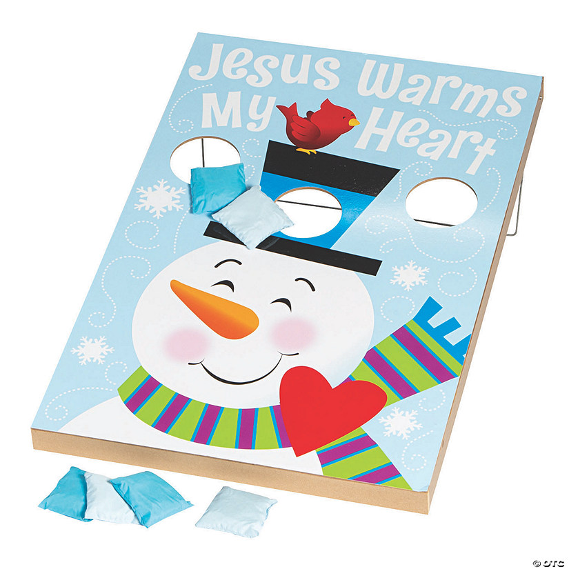 Religious Snowman Bean Bag Toss Game