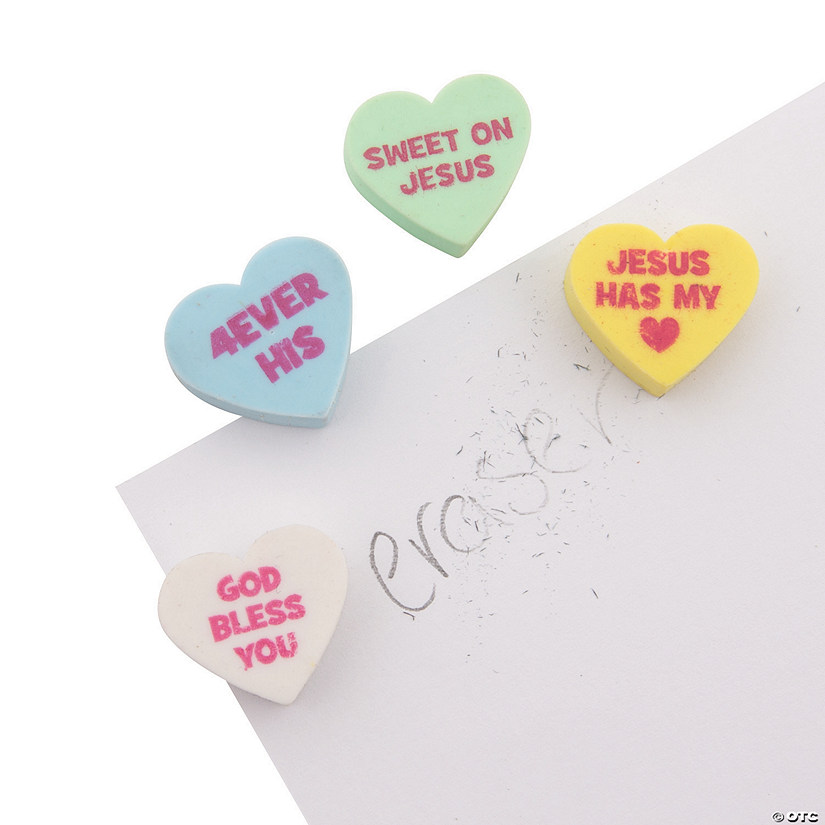 Religious Valentine Conversation Heart Scented Erasers Audio Thumbnail