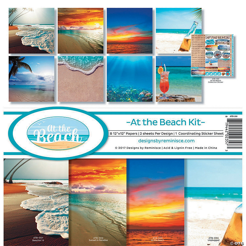 "Reminisce Collection Kit 12""X12""-At The Beach"