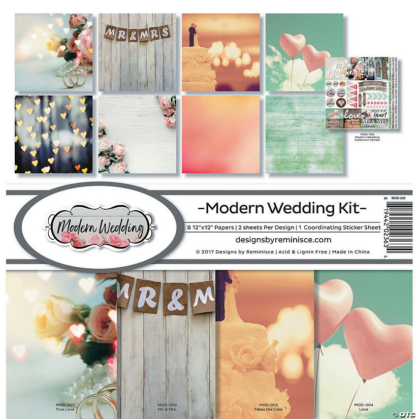 "Reminisce Collection Kit 12""X12""-Modern Wedding"