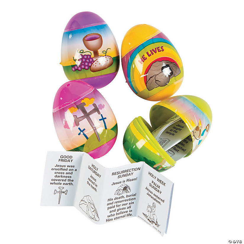 Resurrection Story-Filled Plastic Easter Eggs - 12 Pc. Image Thumbnail