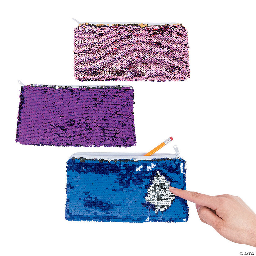 Reversible Sequin Pencil Cases