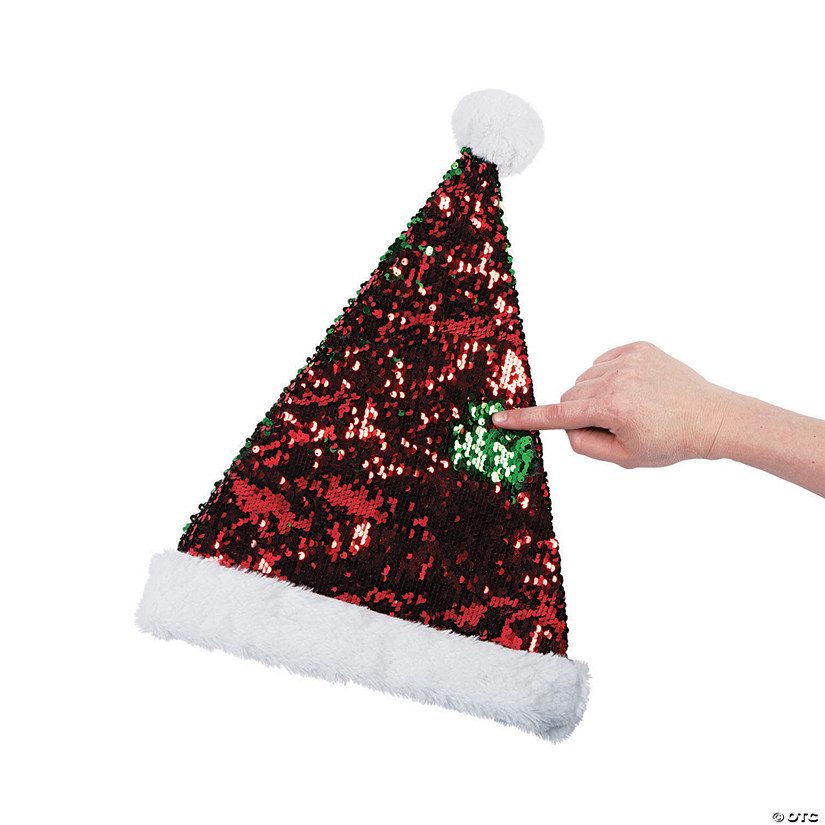 Reversible Sequins Santa Hat Audio Thumbnail