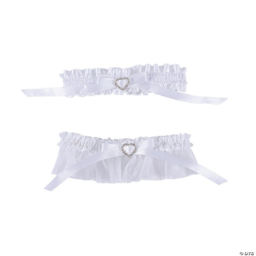 Rhinestone Heart Bridal Garter Toss Set Audio Thumbnail