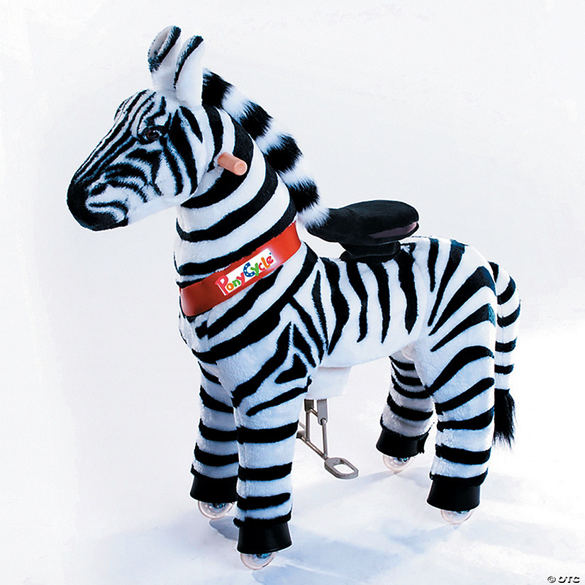 Ride-on Plush Zebra