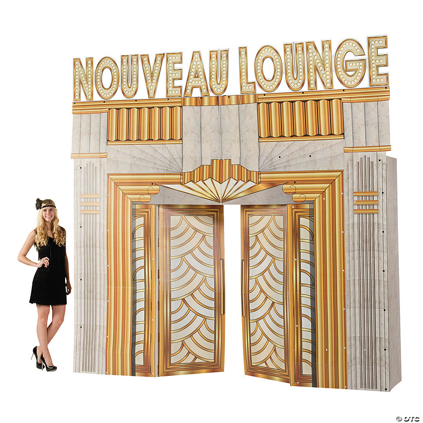 Roaring 20s Club Entryway Arch Cardboard Stand-Up