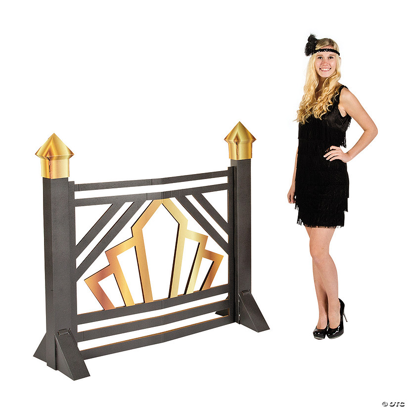 Roaring 20s Scroll Gate Cardboard Stand-Up Audio Thumbnail