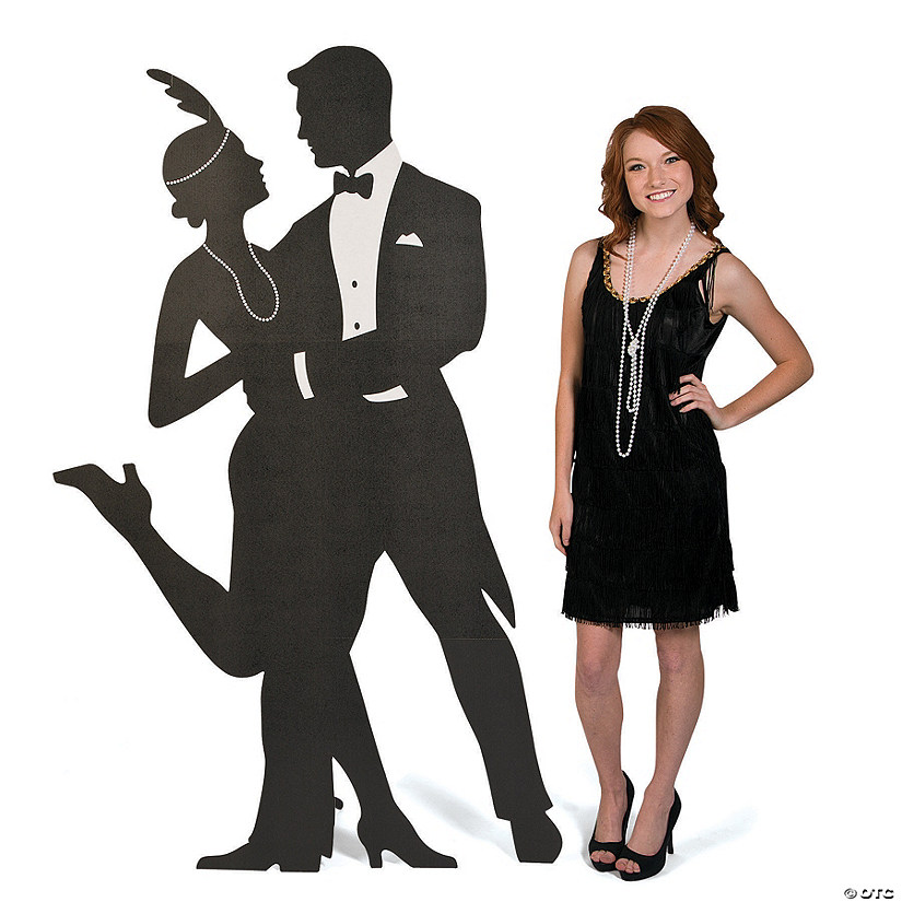 Roaring 20s Silhouette Swing Dancers Cardboard Stand-Up Audio Thumbnail
