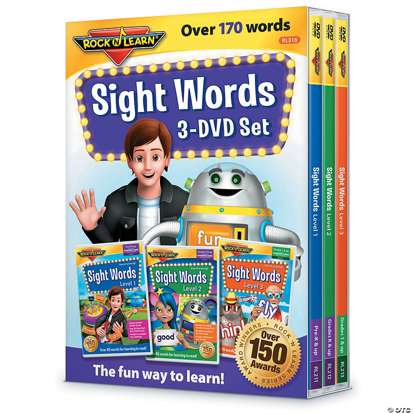 Rock N Learn Sight Words 3 Dvd Set Audio Thumbnail