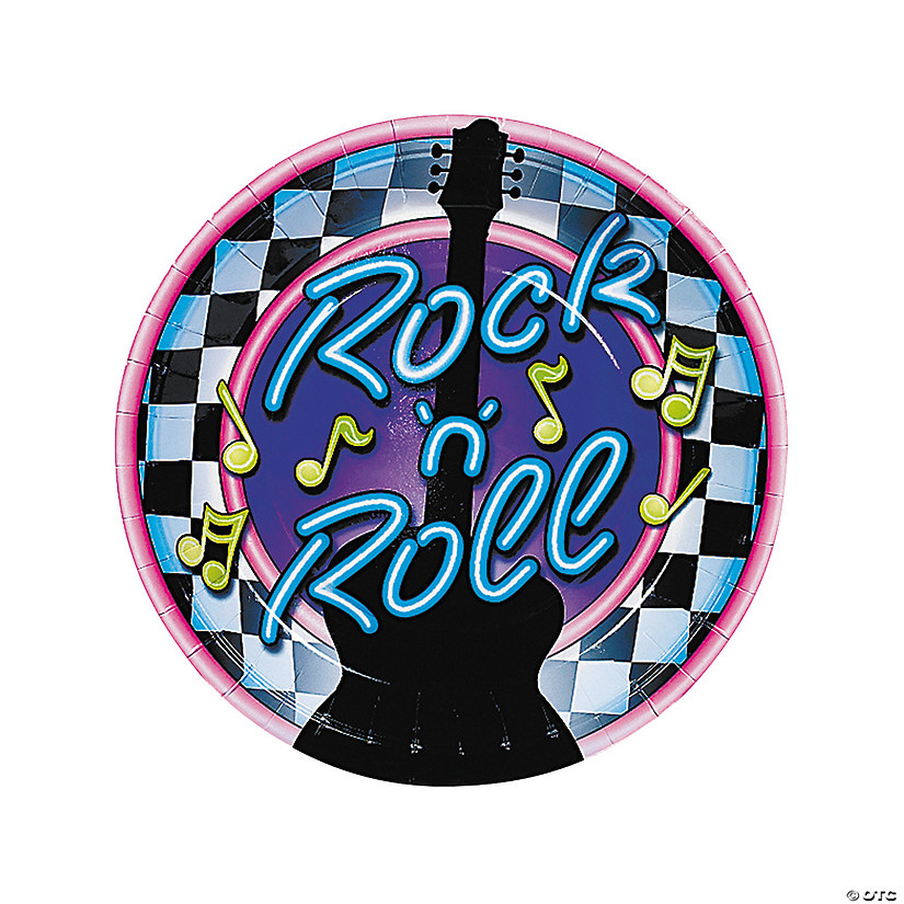 Rock 'n' Roll Paper Dinner Plates