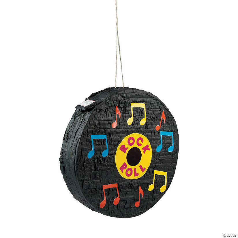 Rock 'N' Roll Record Piñata