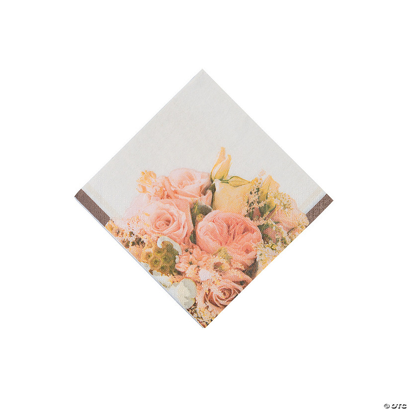 Rose Gold Bouquet Beverage Napkins