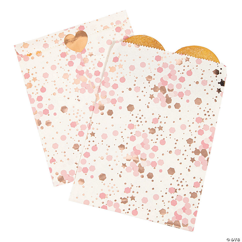 Rose Gold Bridal Shower Treat Bags Image Thumbnail