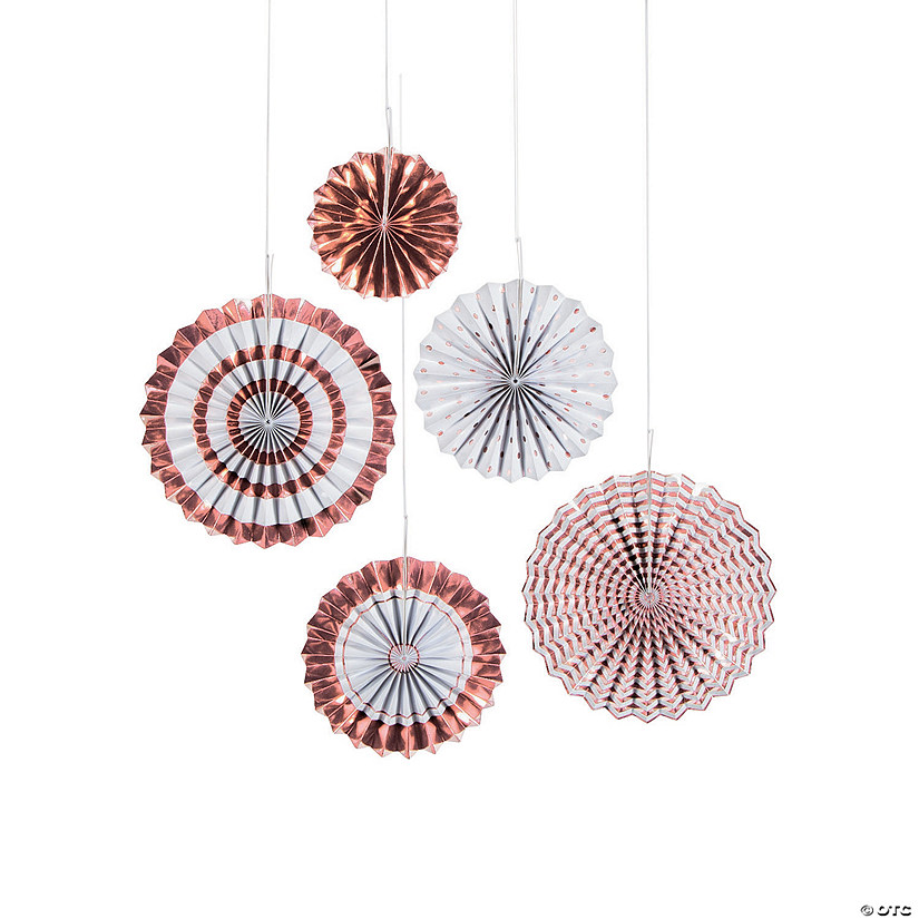 Rose Gold Foil Hanging Fan Assortment