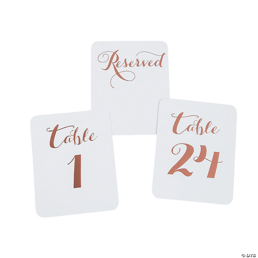 Rose Gold Foil Table Numbers Audio Thumbnail