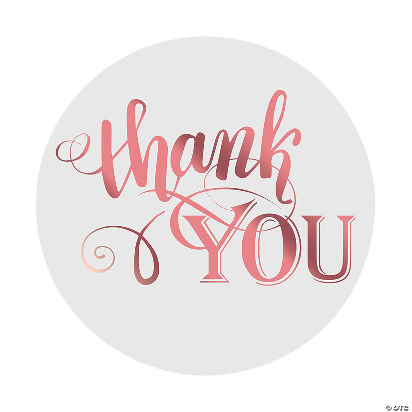 Rose Gold Foil Thank You Stickers Audio Thumbnail