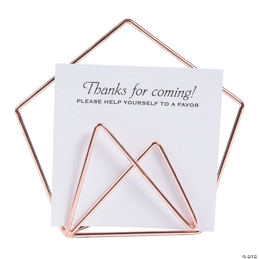Rose Gold Geometric Sign Holder Audio Thumbnail