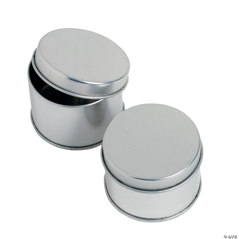 Round Silvertone Tins Favor Containers Audio Thumbnail
