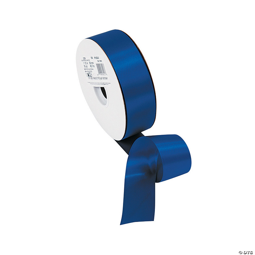 "Royal Blue Double Faced Satin Ribbon - 1 1/2"" Audio Thumbnail"