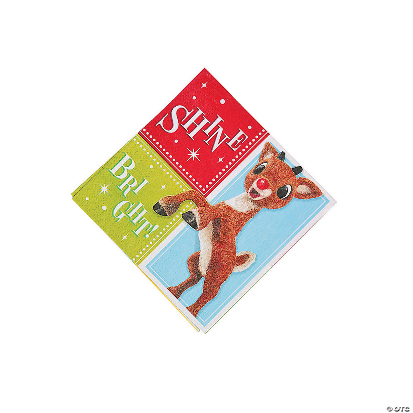 Rudolph the Red-Nosed Reindeer<sup>&#174;</sup> Beverage Napkins Audio Thumbnail