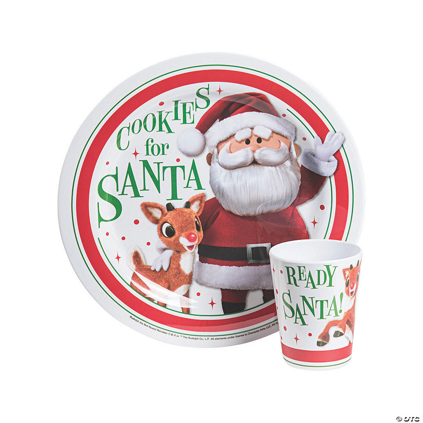 Rudolph the Red-Nosed Reindeer<sup>&#174;</sup> Cookies & Milk Plastic Plate & Cup Audio Thumbnail