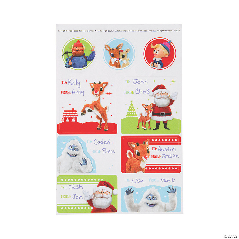 Rudolph the Red-Nosed Reindeer<sup>&#174;</sup> Gift Tag Stickers Audio Thumbnail