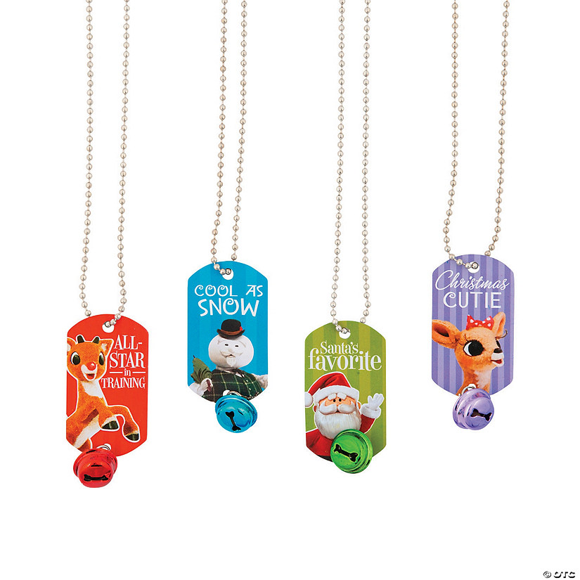 Rudolph the Red-Nosed Reindeer<sup>&#174;</sup> Jingle Bell Dog Tag Necklaces Audio Thumbnail