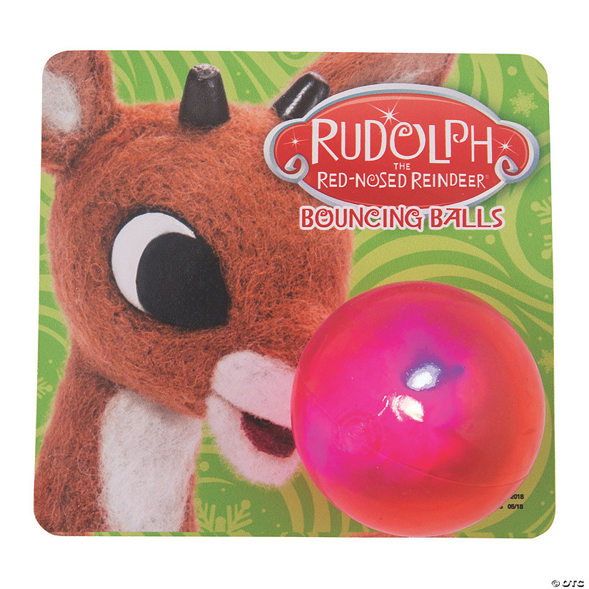 Rudolph the Red-Nosed Reindeer<sup>&#174;</sup> Light-Up Bouncing Balls with Card Audio Thumbnail