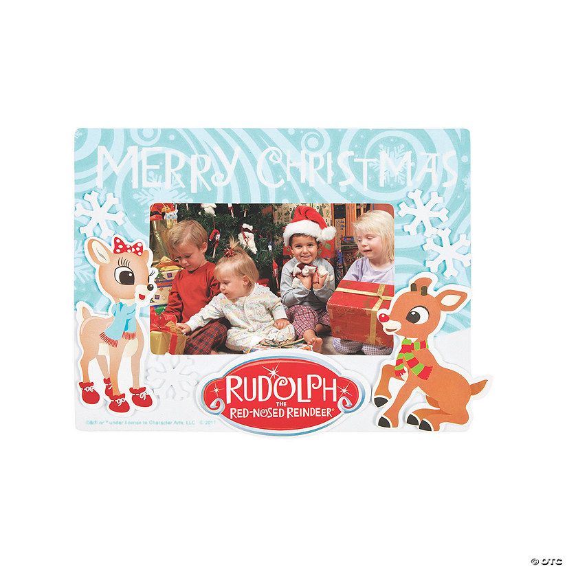 Rudolph the Red-Nosed Reindeer<sup>&#174;</sup> Picture Frame Magnet Craft Kit Audio Thumbnail