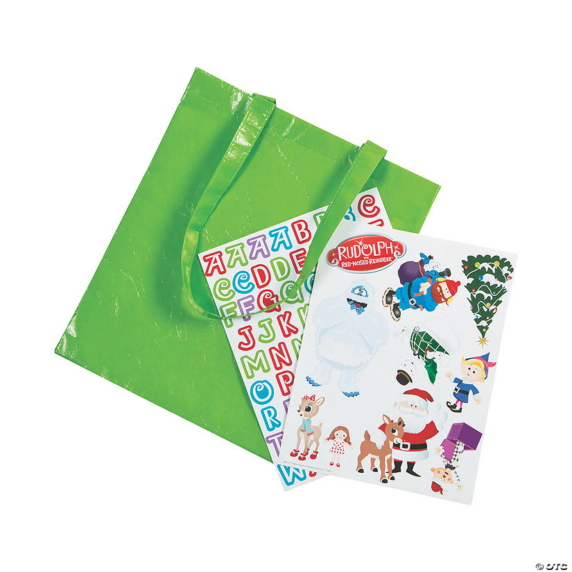 Rudolph the Red-Nosed Reindeer<sup>&#174;</sup> Tote Bag Craft Kit Audio Thumbnail