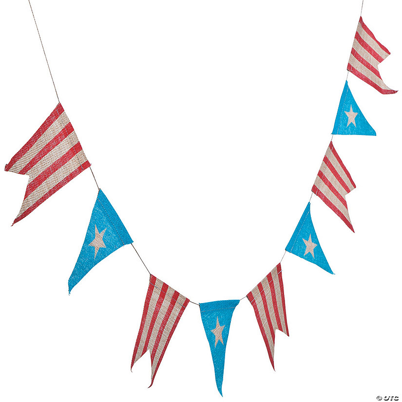 Rustic 4th of July Burlap Pennant Banner Audio Thumbnail