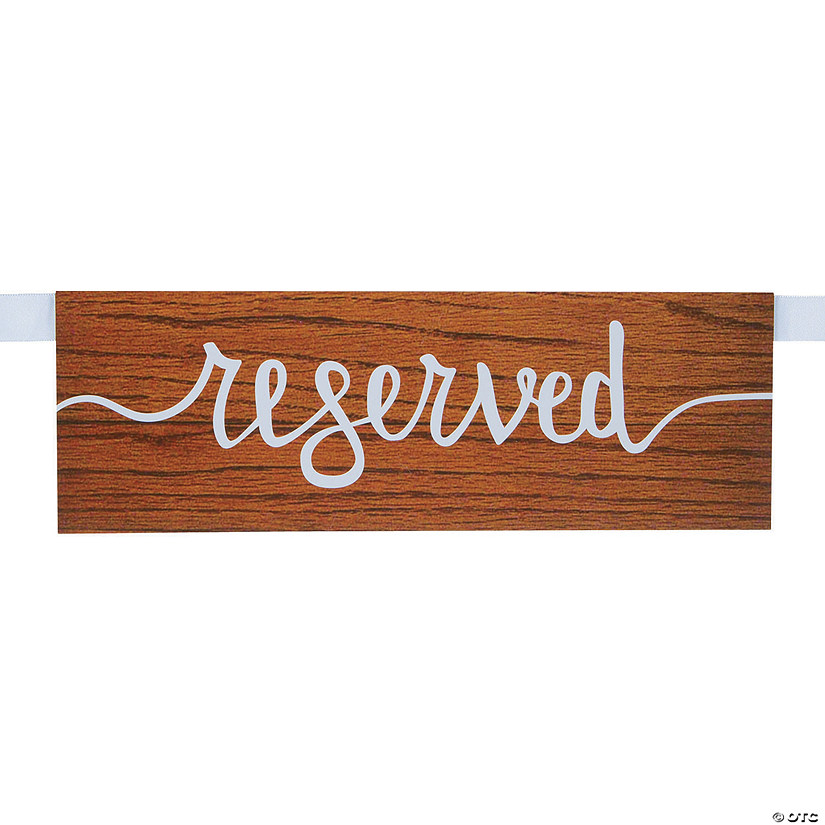 Rustic Reserved Seating Signs Audio Thumbnail