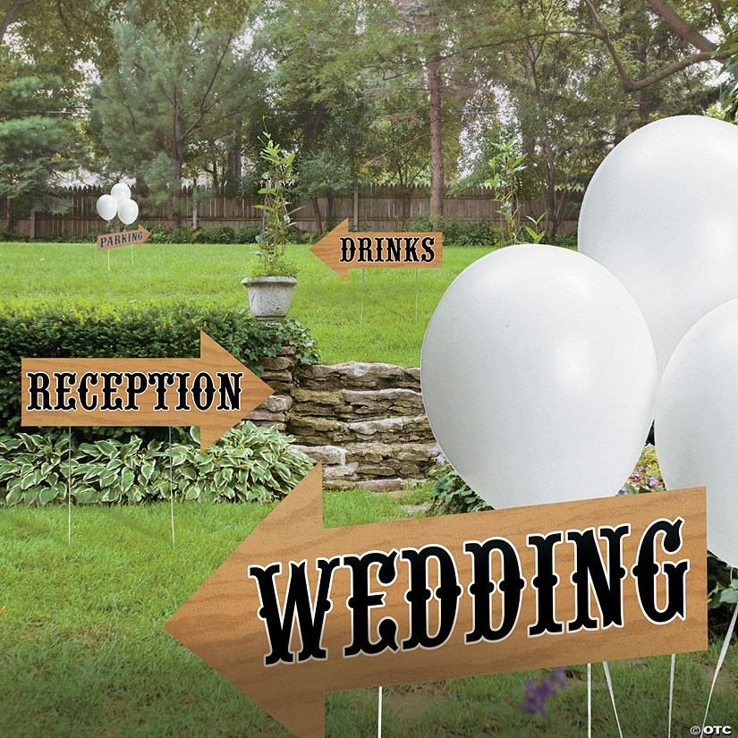 Rustic Wedding Directional Yard Signs Audio Thumbnail