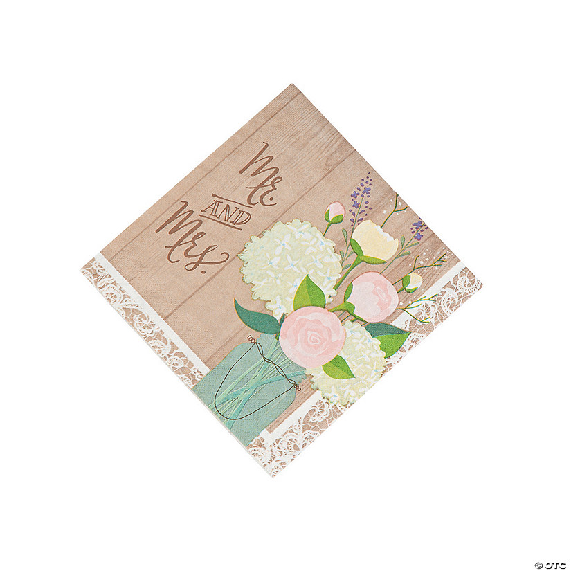 Rustic Wedding Luncheon Napkins