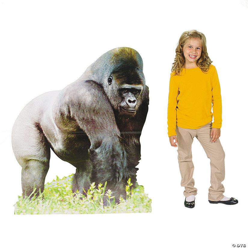 Safari Gorilla Cardboard Stand-Up