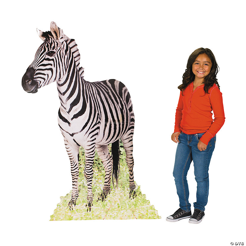 Safari Zebra Cardboard Stand-Up