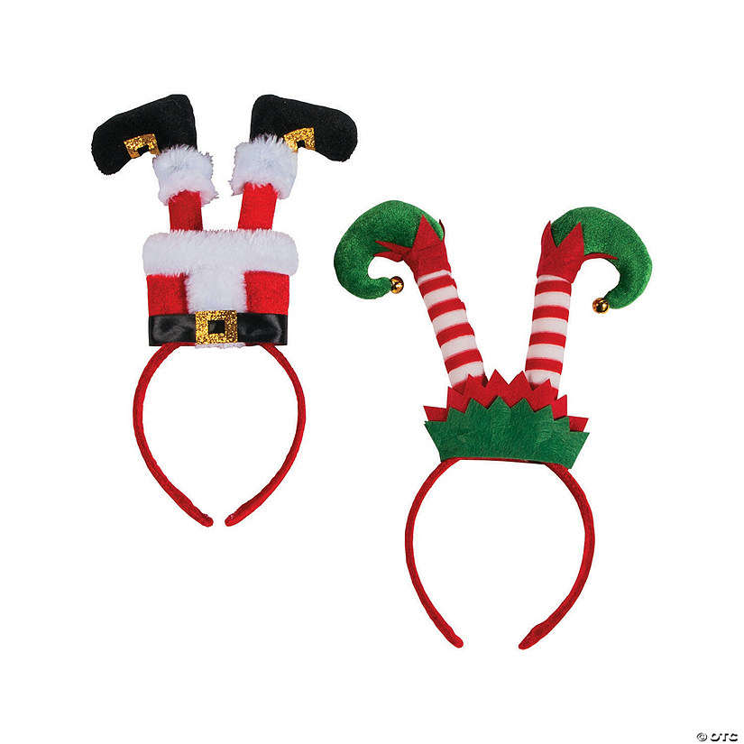 Santa & Elf Legs Headbands Image Thumbnail